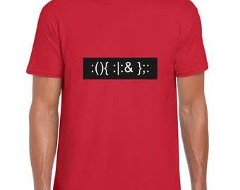 Elegant Bash Fork Bomb funny t shirt
