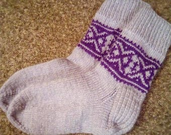 Men's knit socks with pattern