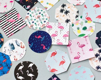 Tropical Flamingo stickers