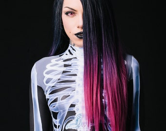 Sexy Bodysuit, Festival Clothing, Cosplay Costume, Womens Catsuit, Gothic Clothing, Womens Jumpsuit, Steampunk Clothing, Skeleton Bodysuit