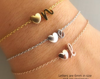 Bridesmaid Gift Personalized Bridesmaid Jewelry Silver Rose Gold Gold Initial Bracelet Wedding Jewelry Bridesmaid bracelet jewellery