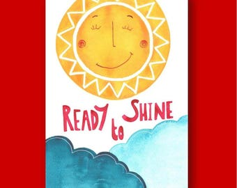 Ready to Shine Greeting Card