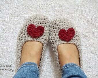 Adult Slippers Crochet Pattern PDF,Easy, Great for Beginners, Shoes Crochet Pattern Slippers,  Pattern No. 96