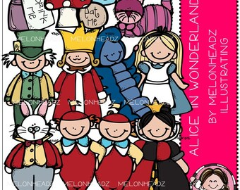 Alice in Wonderland clip art - COMBO PACK