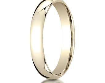 14kt Yellow Gold Comfort Fit Wedding Ring 4mm, 4mm Wedding band, 4mm Wedding Ring, Comfort fit band, 4mm comfort fit ring,