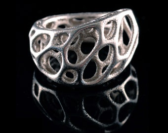 2-layer twist ring (3D printed stainless steel)