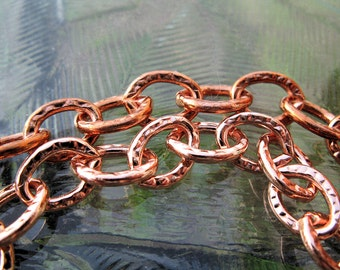 Large Link COPPER CHAIN, Solid Copper, Bulk Chain 6 inches to 36 inches