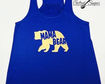 Mama Bear Tank, Mama Bear, Mother's Day, Mom Shirt, Workout, Fitness, Gym, Gold