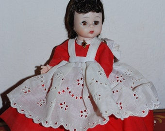 Madame Alexander Little Women Jo Alexanderkins Red Dress 8""
