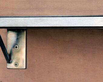 Stainless Steel Shelf, Modern, Steel Shelf,  Minimal, Sleek Kitchen Shelf