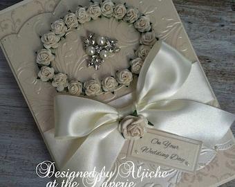 Wedding Card,  Engagement, Golden Wedding, Personalized, Birthday, Golden Wedding, Anniversary, Wife, Fiancee