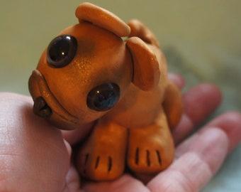 Cutie Critter French Bulldog Puppy OOAK puppy art, sculpture, polymer clay, dog art, French Bulldog sculpture, Bulldog, Bully