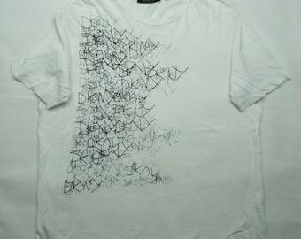 Vintage 90's DKNY Abstract Tshirt