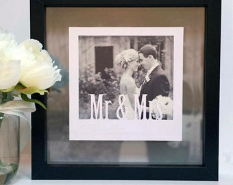 Personalised Polaroid photo frame papercut, wedding, valentines, anniversary, baby, birthday instagram