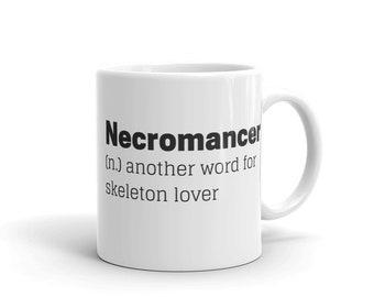 necro mug, necromancer mug  rpg mmorpg gamer gift geeky gift for him d20