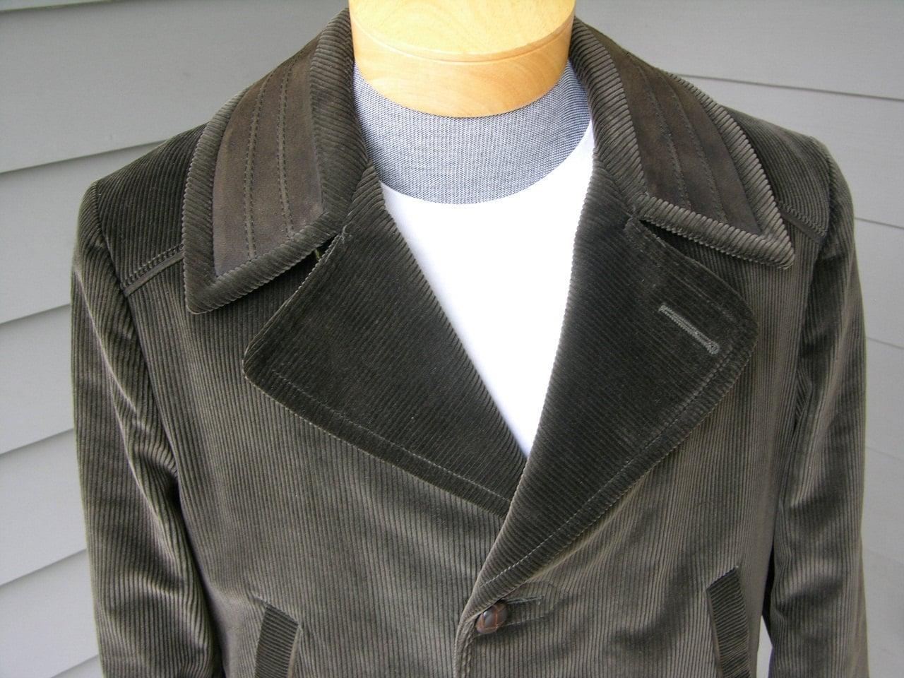 vintage 1960\'s Men\'s Corduroy Car coat. \'New Old