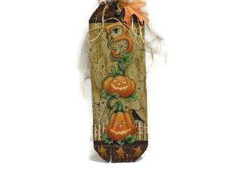 BOO Halloween Sign | Tole Painted Halloween Plaque