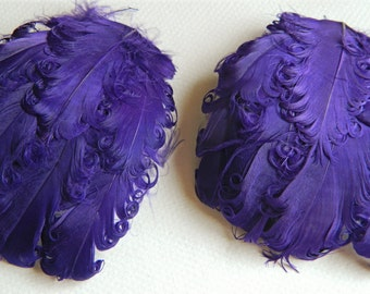 SOLID PURPLE CURLY Feather Pads, Nagorie Feathers