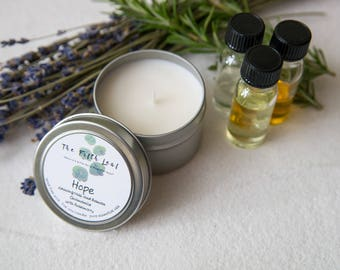 Soy and Essential Oil Candle with Lemongrass, Roman Chamomile, and Rosemary - 4 oz.