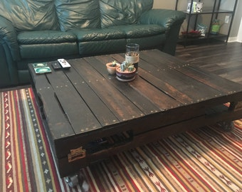 Wood Pallet Coffee Table - No Wheels/Legs