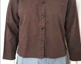 Vintage 1980's Cotler Short Black Jacket with Brown Specks - Size 40 o1jQWl