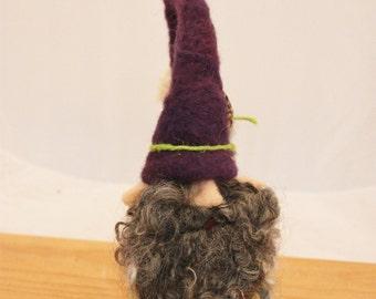 Gnome, Needle Felted Gnome, Garden Gnome, Felted Gnome, Forest Gnome #2340