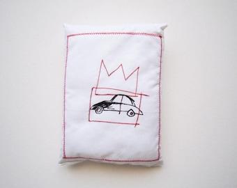 Car love gift Basquiat art pop birthday gift unisex graduation art gift creative pillow sculpture graffiti art gift textile wall art unique