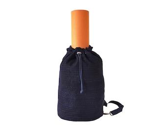 Dark Indigo W/ White Stitching Crossbody Duffel / Yoga Bag