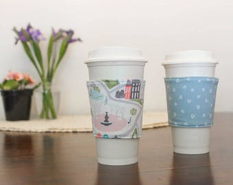 Spring Walk in the Park Coffee Sleeve - Blue