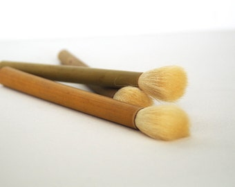 Chinese calligraphy bamboo brush. Extra large horse and mixed hair brush. Paint brushes. Asian art craft supplies for artists and students