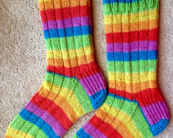 Hand Knit Wool Socks - KnitPicks Felici yarn (S-211)