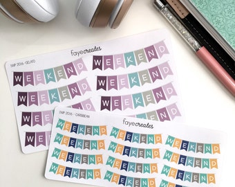Weekend banner stickers (2017 inkWELL Press colors)