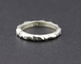 Mini Facet Ring: Sterling Silver, 2.5mm