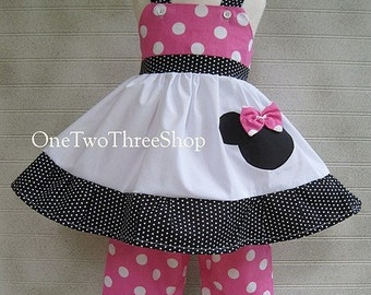 Custom Boutique Disney Minnie Mouse Top and Capris Set 12 months to 6 years