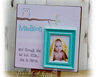 Baby Frame for Baby Girl or Baby Boy, Personalized Baby Frame, Baby Gift, Baptism Gift, Christening Gift, Baby Shower, Though She be Little