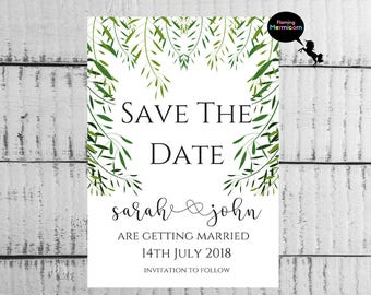 Save The Date Cards, Printable Save The Date Cards, Personalised Save The Date, Wedding Announcement, Save-The-Date, Custom Save The Date