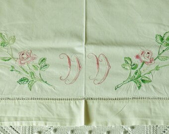 Top of GRAND old cloth embroidered Monogram DD