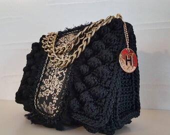 Handmade by petroula,Handbags,knitting patterns,Crochet,luxurious Accesories crocheted bag,