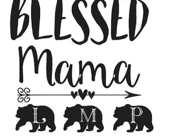 Blessed Mama Decal with Cubs