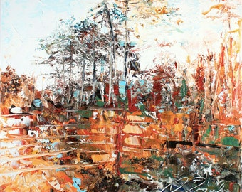 New England Landscape No.23, limited edition of 50 fine art giclee prints on canvas