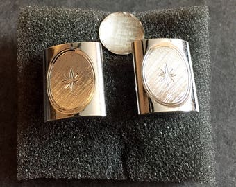 Vintage Men's Cuff Links with Matching Tie Pin - Mid Century Style
