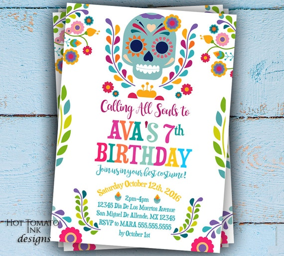 Day Of The Dead Invitation Dia De Los Muertos Invitation - Day of the dead party invitation template