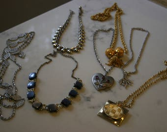 Vintage Costume Jewelry Necklaces Lot of Seven Necklaces Circa 1960 Coro Kramer NY