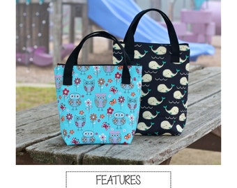 Perfect LIttle Lunch Bag - PDF SEWING PATTERN