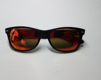 VTG Vintage Ray Ban New Wayfarer RB 2132 Black Frame Orange Lens