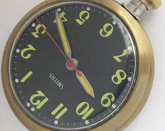 Made In Britain Smiths Men's pocket and for car dashboard vintage watch