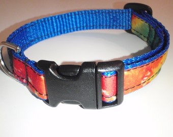 Tie Dye Dog Collar