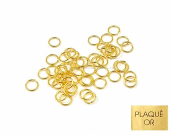 Gold plated 18K - 4/5 / 6mm - 10 or 100 rings