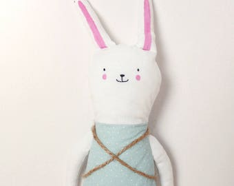 Handmade Toy Made To Order Bunny Animal Plush Toy Personalized Gift