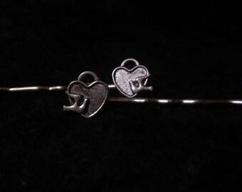 Dove and Lock Bobby Pin Set
